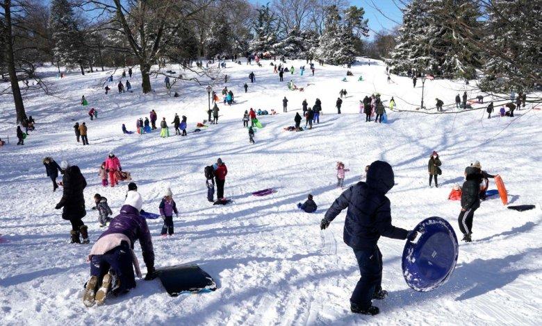 Nueva York registró su mayor nevada de los últimos años 1