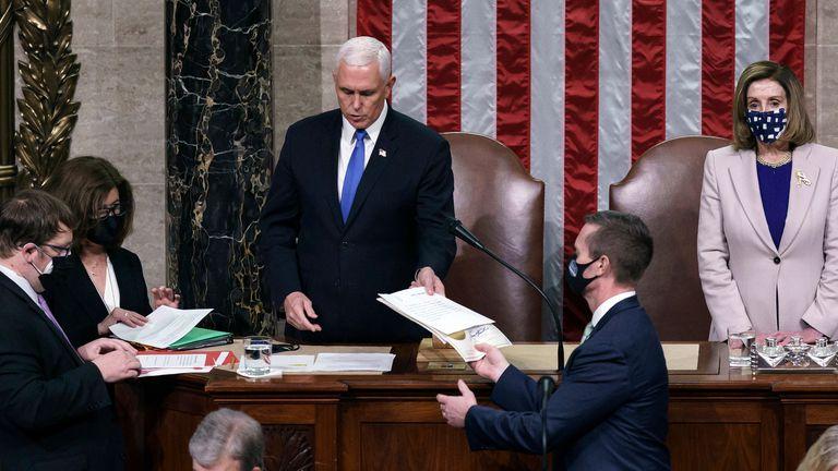 Tras rechazar objeciones, Congreso certificó la victoria electoral de Joe Biden 1