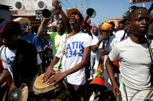 Barricades burn in Haiti in protest against President Jovenel Moise