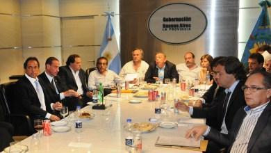 Photo of Scioli con una veintena de intendentes de la primera sección electoral