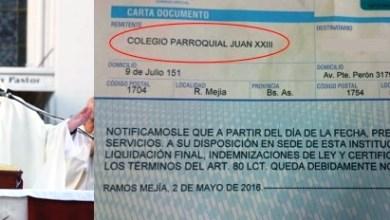 Photo of SADOP Denuncia A Colegio Del Obispado De San Justo Por Despidos De Trabajadores