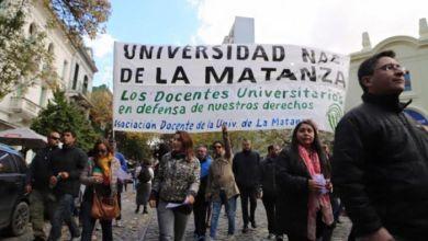Photo of Paro de los docentes de la UNLaM reclamado la reapertura de paritarias