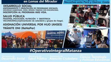 Photo of Lomas del Mirador: Desde hoy se realiza un nuevo Operativo Territorial Integral
