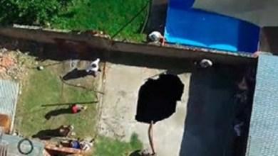 Photo of Cayó en un pozo que se abrió en el patio de su casa