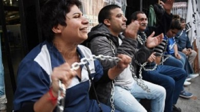 Photo of Encadenándose, piden reincorporación de tercerizados