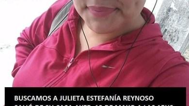 Photo of Buscan a Julieta Estefanía Reynoso