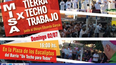 Photo of Misa por los derechos a la Tierra, el Techo y el Trabajo, en el Barrio 22 de Enero