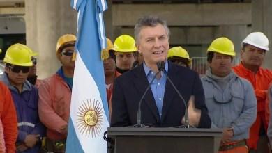 Photo of Mauricio Macri en el inicio de obra del viaducto