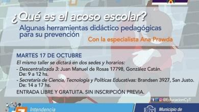 Photo of Invitación al taller gratuito sobre acoso escolar