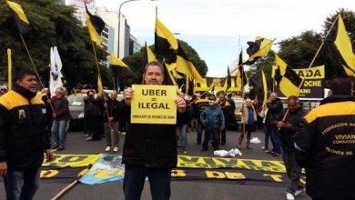 Photo of Taxistas porteños contra Uber