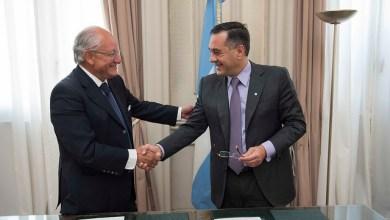 Photo of Educación: Convenio de Finocchiaro con el Presidente de la Fundación Conin
