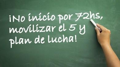 Photo of Docentes: «Vamos por el No Inicio de 72hs, movilización el 5 y plan de lucha»