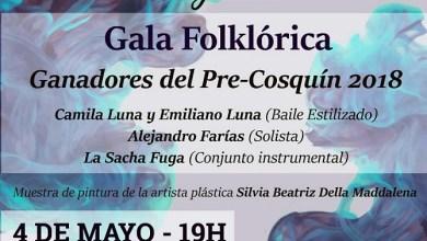 Photo of Los ganadores del Pre Cosquín 2018 en una Gala Folklórica