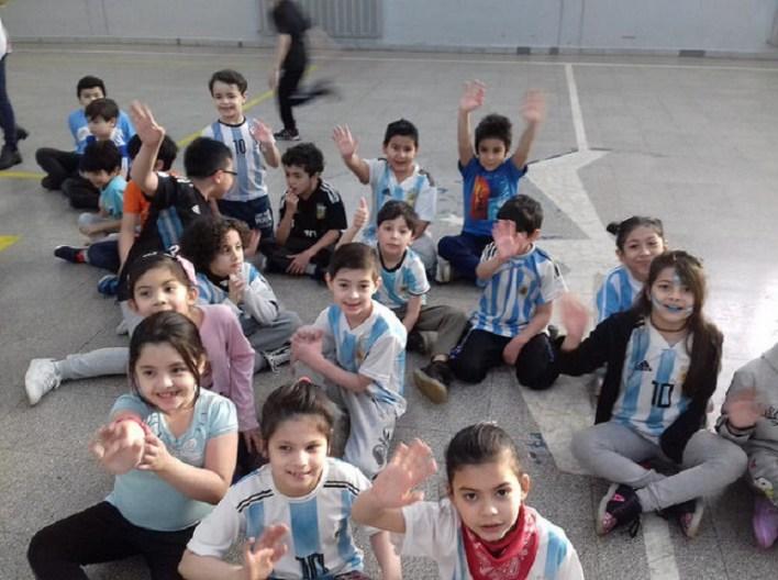 El Mundial en escuelas de Tierra del Fuego