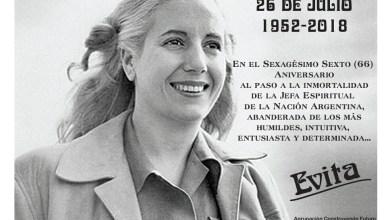 Photo of A 66 años del fallecimiento de Evita