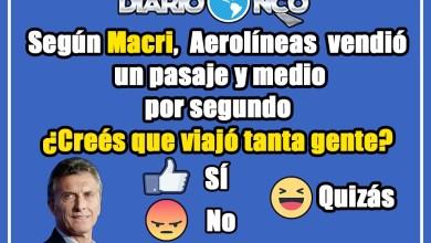 Photo of Viajes Low Cost: según Macri, Aerolíneas vendió un pasaje y medio por segundo