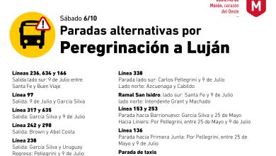Photo of El Gobierno de Morón reorganizará el tránsito durante la Peregrinación a Luján