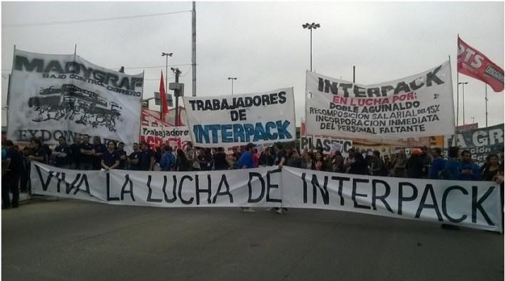 Comunicado de Interpack: continúa la toma de la planta hasta la reincorporación de los once despedidos