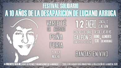 Photo of Festival Solidario en memoria de Luciano Arruga