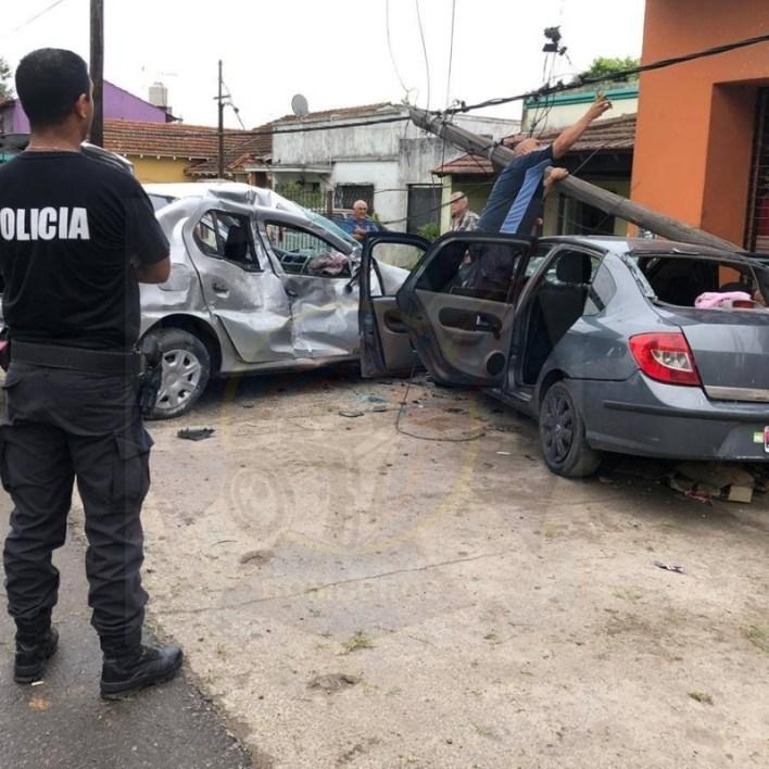 Brutal choque en Burzaco deja 9 heridos