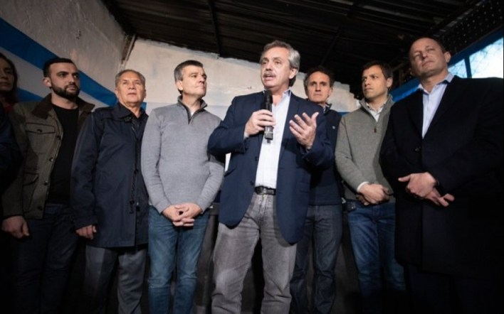 En San Martín, Alberto Fernández sigue y profundiza su campaña en el Conurbano
