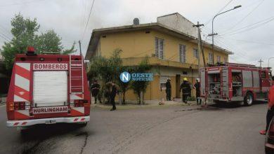 Photo of Hurlingham: Impresionante incendio en una casa de Villa Tesei