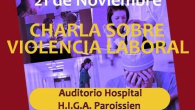 Photo of Isidro Casanova: Charla sobre violencia laboral en el Hospital Paroissien