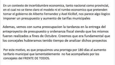 Photo of Rechazo al aumento de tasas