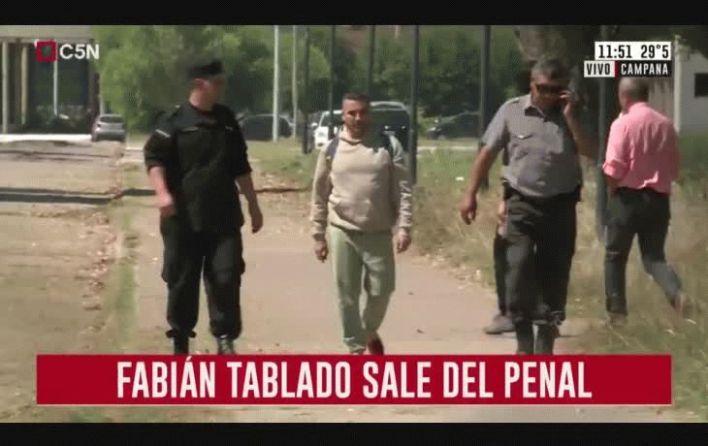 Fabián Tablado salió de la cárcel tras 23 años preso