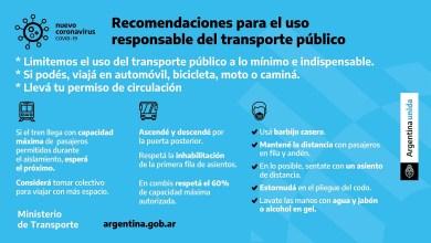 Photo of Protocolo y recomendaciones para el uso responsable del transporte público