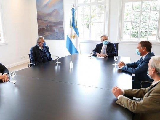 Alberto Fernández recibió en Olivos a Gerardo Morales