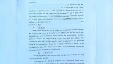 Photo of Presentan denuncia por abuso sexual contra un sacerdote de La Plata que fue trasladado a Puerto Iguazú