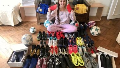 Photo of Zoe Puente, la joven futbolista que creó una campaña para donar botines