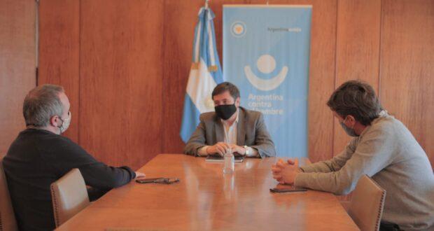 Lucas Ghi y Sabbatella se reunieron con el ministro Arroyo por los alcances del programa Potenciar Trabajo