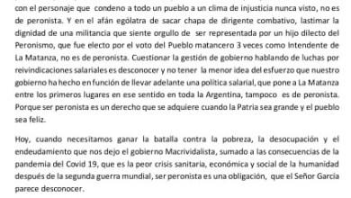 """Photo of """"Cuando un peronista se cree más de lo que es, pasa a ser un oligarca"""""""