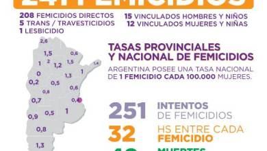 Photo of 290 femicidios y trans-travesticidios en lo que va de enero a noviembre del 2020