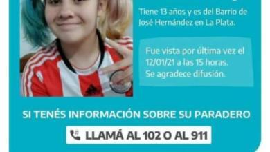 Photo of Búsqueda incesante de una adolescente en la localidad de La Plata