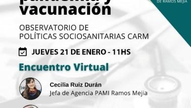 Photo of Ramos Mejía: Charla virtual sobre Pandemia y Vacunación.