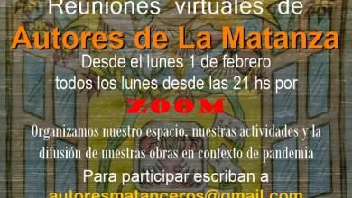Photo of Reuniones virtuales de Autores de La Matanza