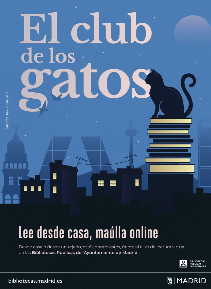 El club de los gatos: lectura virtual en las bibliotecas de Madrid 1