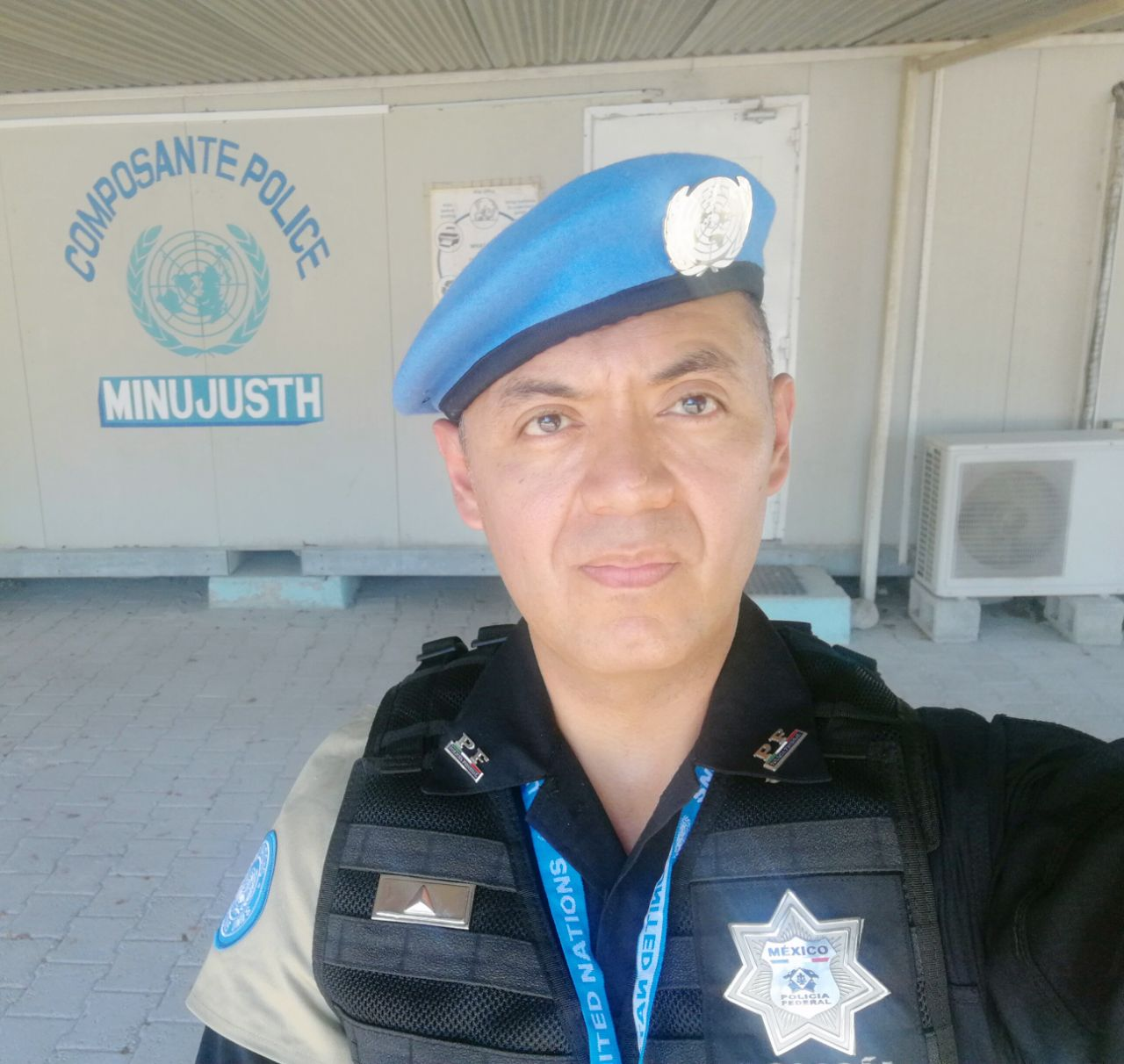 Elemento de la Policía Federal de México se integró a los boinas azules de  la ONU 4920357b756