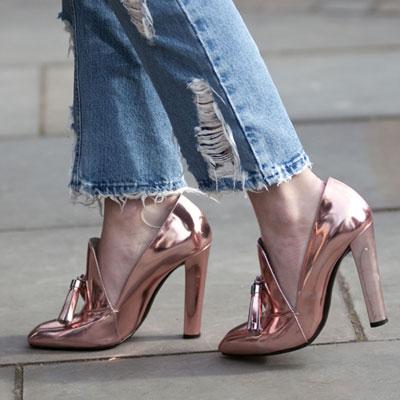 Resultado de imagem para sapatos metalizadas