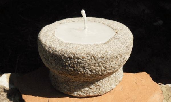 Velas de parafina y arena