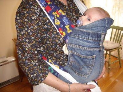 Ideas para reciclar vaqueros silla para llevar a un bebé