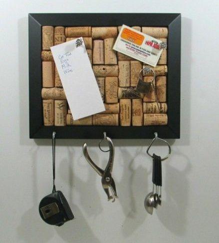 Ideas para reciclar corchos panel para llaves