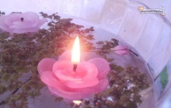 velas caseras flotantes 5