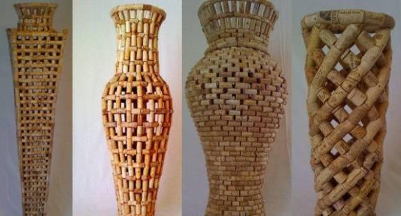 Ideas para reciclar corchos jarrones