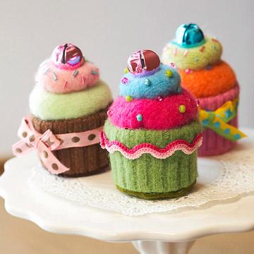 Cupcakes con reciclaje de tejidos