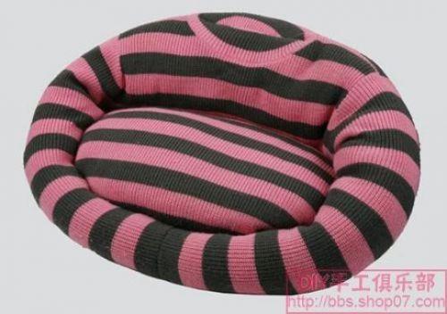 Cama para mascotas con reciclaje de tejidos