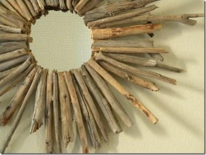 Modelo de marco de espejo hecho con ramas